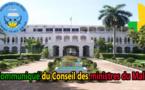 Mali : COMMUNIQUE DU CONSEIL DES MINISTRES  DU MERCREDI 1er NOVEMBRE 2017