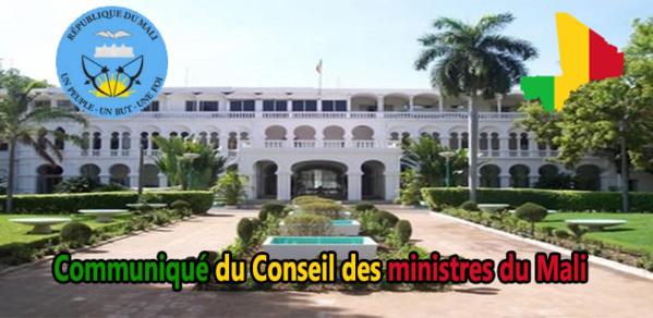 Mali : Communiqué du conseil des ministres du vendredi, 19 janvier 2018