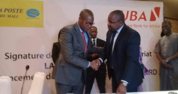 Inclusion Financière : La Poste du Mali et UBA Mali se liguent en lançant la carte bancaire de la Poste