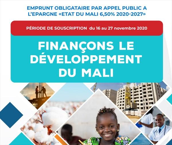 Appel Public à l'Epargne: Le Mali lance un emprunt obligataire de 100 milliards de FCFA sur le marché financier