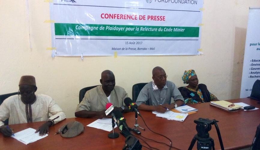 Secteur minier au Mali : Le Collectif des OSC exige 1% du chiffre d'affaires des compagnies au développement local