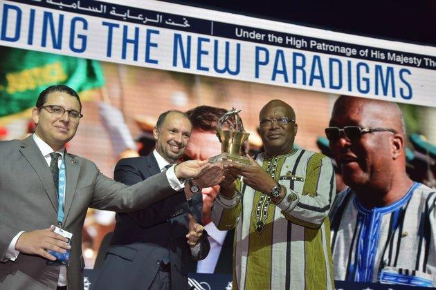 Le président du Burkina Faso, Roch Marc Christian Kaboré recevant le Grand Prix MEDays 2018