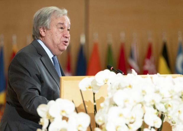 Photo : ONU/Jean Marc Ferré Le Secrétaire général des Nations Unies, António Guterres, s'exprimant lors de la 108e session de la Conférence internationale du Travail le 21 juin 2019