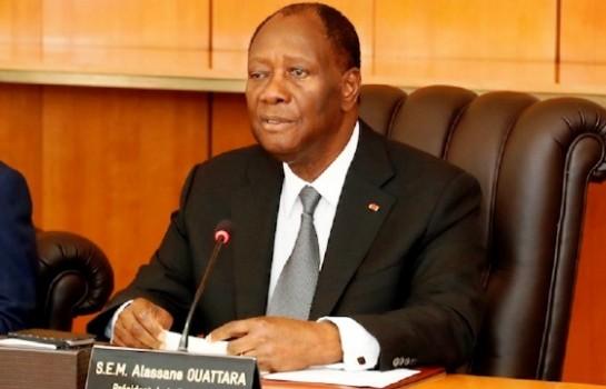 Alassane Ouattara, président de la République de Côte d'Ivoire.