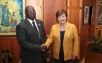 Madame Kristalina GEORGIEVA, Directrice Générale du FMI, en visite à la BCEAO